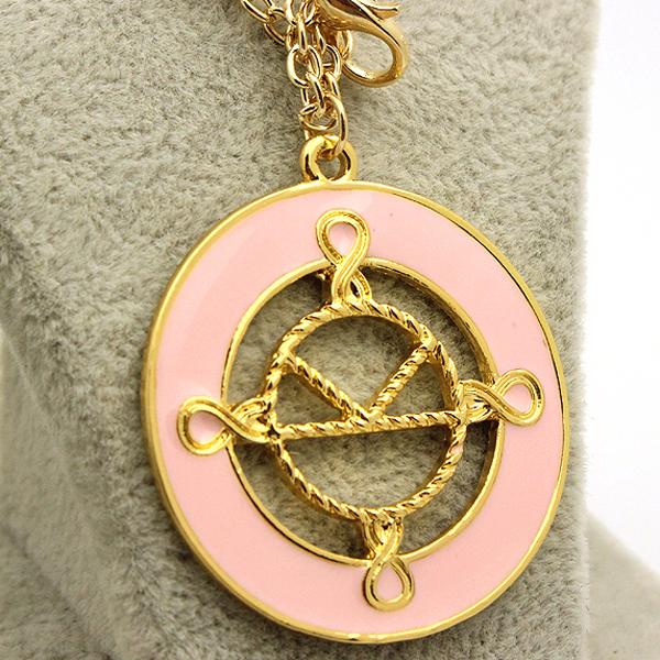 Kingsman The Secret Service badge sign pendant necklace men women vintage chain collar gold male female