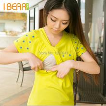Cotton of stars Breast Feeding Maternity Tops Tee Clothes For Pregnant Women Pregnancy Nursing Tops Feeding Gravida Summer 2015(China (Mainland))