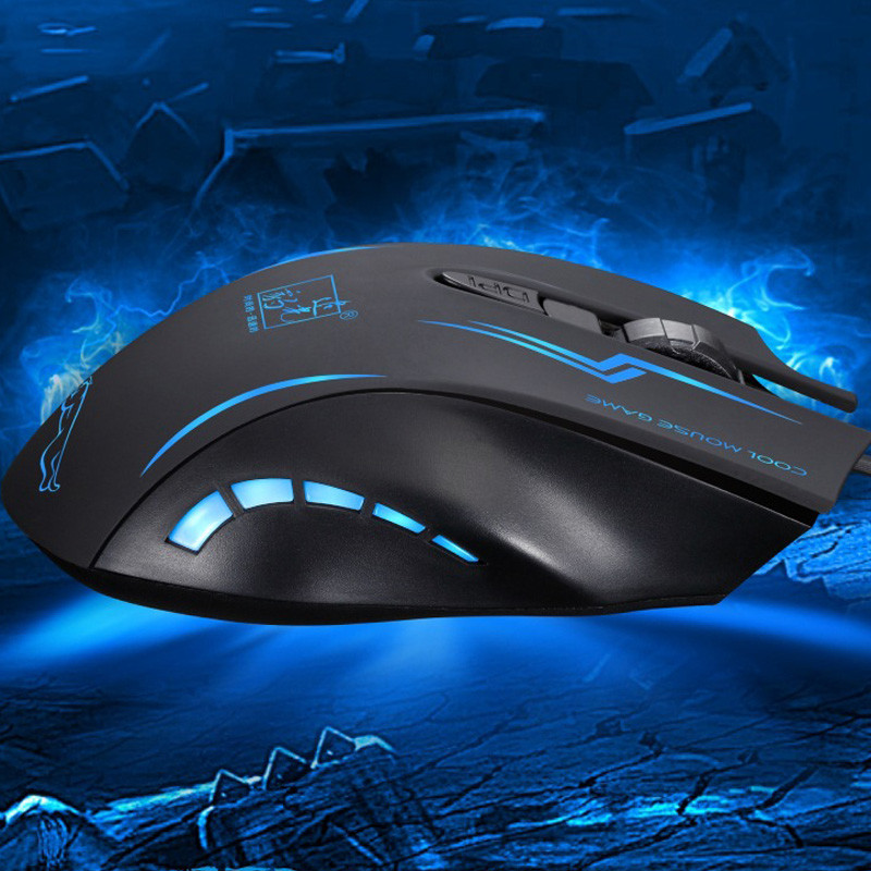 Cool LED Light USB Optical Gaming Mouse Wired 2400 dpi Ergonomical Computer Gaming Mouse Mice for Laptop PC for Dota Gamer