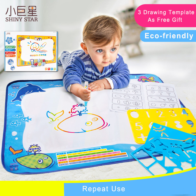 50*70cm Large Water Drawing Mat Board Aquadoodle Brinquedo Aqua Doodle For Children Painting Games With Template Baby Kids Toys(China (Mainland))