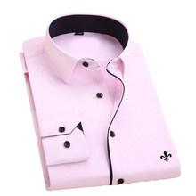 Dudalina Camisa Pria Kemeja Lengan Panjang Pria Kemeja Merek Pakaian Kasual Slim Fit Camisa Sosial Bergaris Masculina Chemise Homme(China)