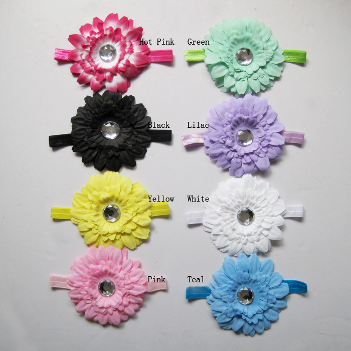 Wholesale Children Girls Peony Flower Headband Baby Photographic Props Hair Accessories Kids Infant Hair Jewelry Hair Bows FS225(China (Mainland))