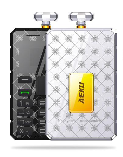 Original New AIEK K8 5.0mm Ultra Thin Card Mobile Phone Pocket Mini Phone Qual Band Low Radiation AEKU Card Cell phone(China (Mainland))