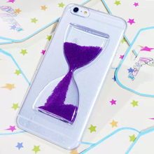 NEW IMPRUE Dynamic Liquid Glitter Sand Quicksand Bottle Case For iPhone6 Crystal Clear Cover Free Shipping