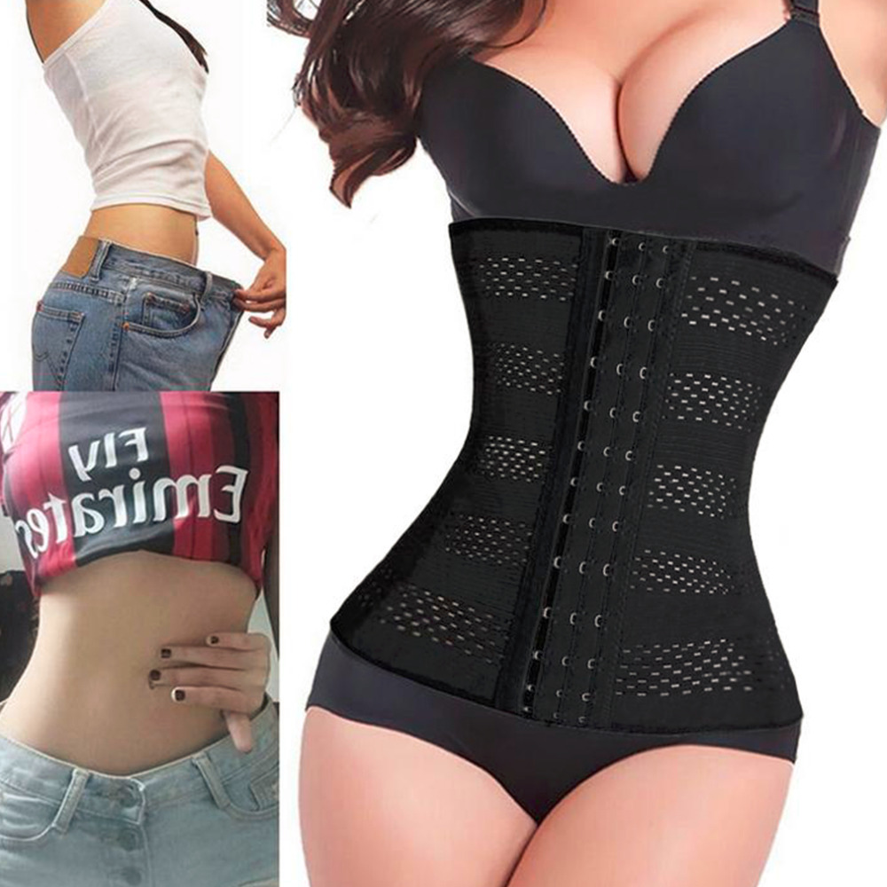 2016 Women Body Shaper Latex Waist Trainer Cincher Underbust Corset Shapewear