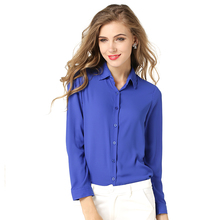 Buy 2017 New Casual Women Shirts Blouses Long Sleeve Turn-Down Collar Solid Ladies Chiffon Blouse Tops OL Office Style Chemise Femme for $10.20 in AliExpress store