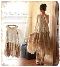 Buy hippie boho mori girl lolita cute Japanese style laces patchwork robe femme floral print rockabilly women summer tank dress for $33.14 in AliExpress store