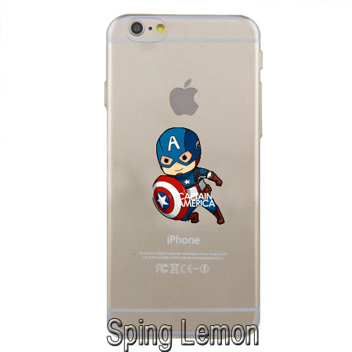 The Avengers Funny Interesting Design Case Cover for iPhone 5/5S/6/6PLUS Cartoon Lovely Captain America Thor Iron Man Hulk Case(China (Mainland))