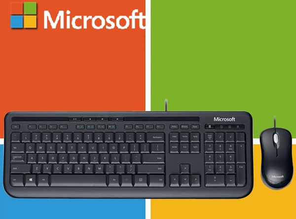 New Microsoft Desktop 600 USB Wired Multimedia Keyboard and Mouse Combo For Desktop(China (Mainland))