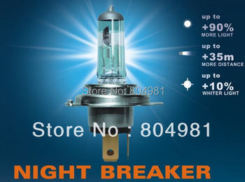 Night Breaker halogen xenon bulb H1/H3/H4/H7/H11/HB3(9005)/HB4(9006) headlight Bulb 12V Free shipping  AAA