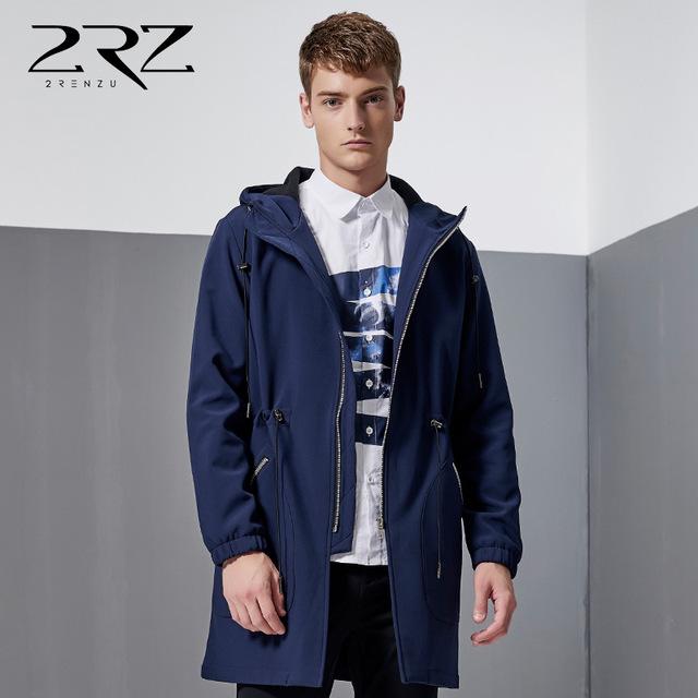 Осенью 2016 Британский Стиль мужчины в длинных пальто мода Куртка С Капюшоном Траншеи Высокое Качество траншеи