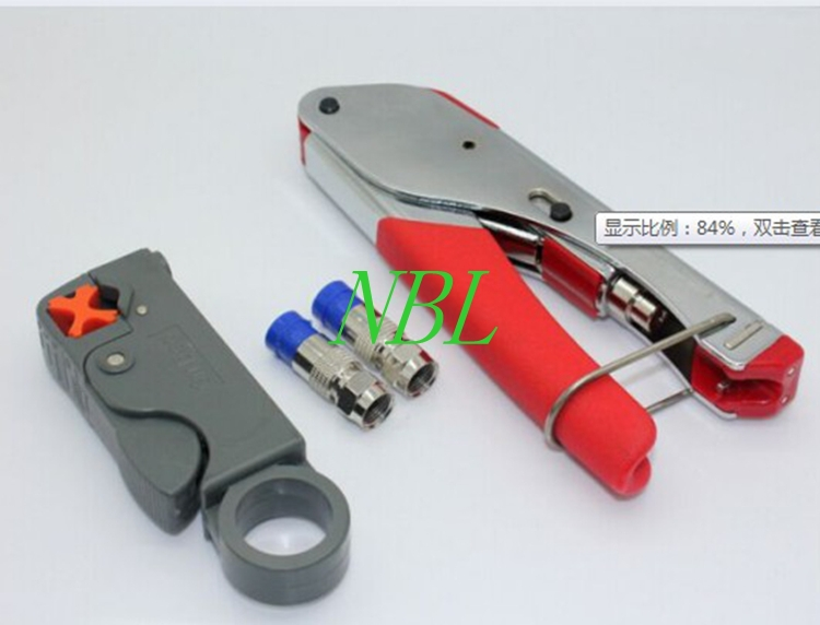 Coaxial Cable Wire Stripper RG6/RG59 Compression F Connector Tool Crimping Pliers Wire Stripping Pliers Kit Free Shipping<br><br>Aliexpress