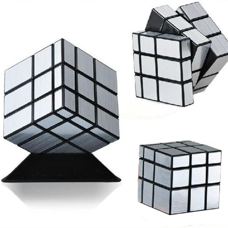 ShengShou Mirror Magic Cube professional 3x3x3 Gold&Silver cubo magico Cast Coated Puzzle Speed Twist learning & education Toys(China (Mainland))