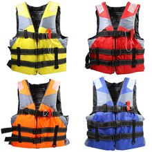 2016 Adult Life Jacket Fully Enclose High Floating Foam Boating Water Fishing Safety Vest With Whistle 4 Color(China (Mainland))
