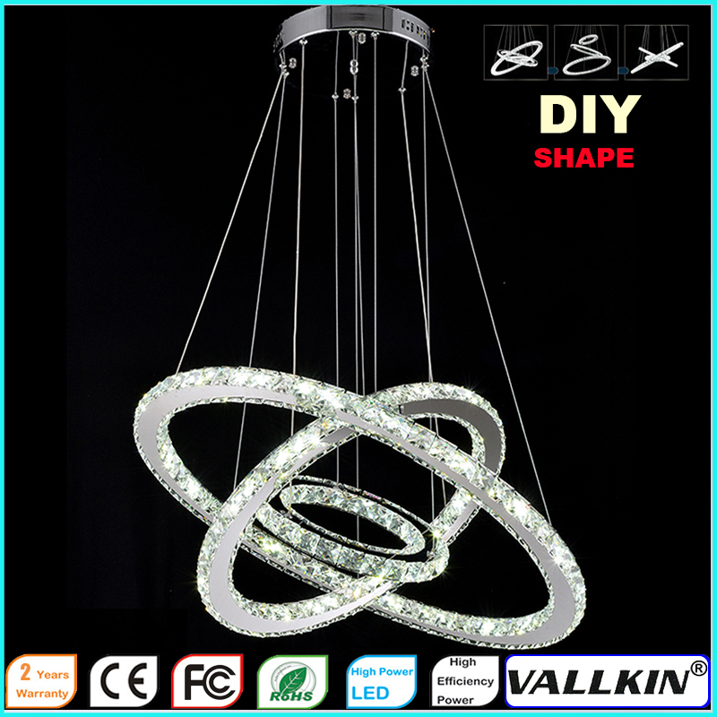 DIY LED Pendant Light K9 Crystal Haning Lamps Fixtures For Indoor Home with AC100 to 240V CE UL FCC ROHS  LED KINDOM LIGHTING<br>
