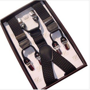 Free Shipping,High Quality Men's Suit braces,Men's Suspenders  Straps With 6 Clips,Width 3.5cm,8 Styles,Wholesale8/Retail