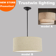 With flax fabric canvas linen ligen shade round cylindroid light cylinderic cylindrical ceiling lights for living room bedroom(China (Mainland))