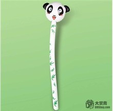 """Free Shipping 4pcs/lot Plastic Inflatable Panda Cheering Stick Funny Party Balloon Head Stick Animal Toys For Kids 49""""(China (Mainland))"""