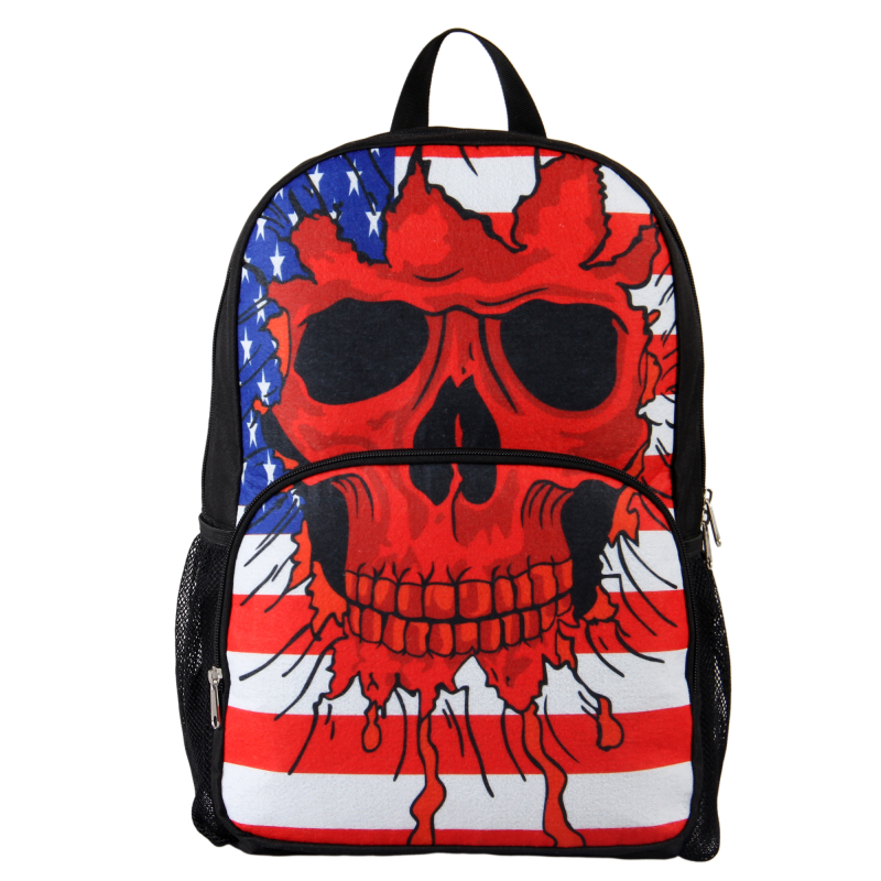 Designer Printing Bags Men's Backpack Vintage Skull Pattern School Backpack Female Fashion Shoulder Bag Travel Laptop Backpack(China (Mainland))