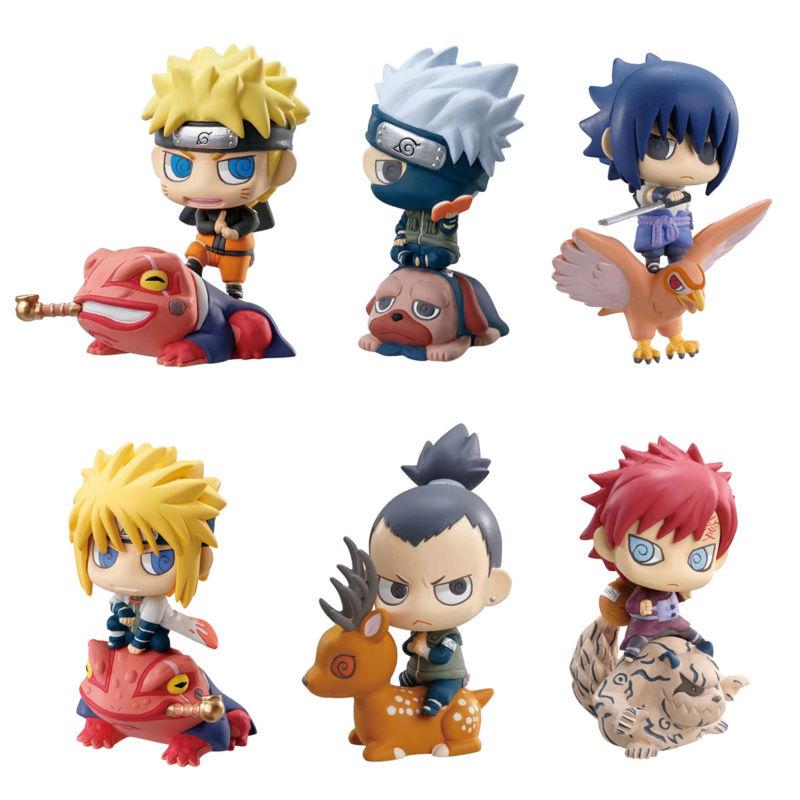 6pcs/lot Naruto Mini 6CM Action Figure Naruto Kakashi NaraShikamaru Gaara Sasuke Namikaze Minato PVC Figure Toys Dolls(China (Mainland))