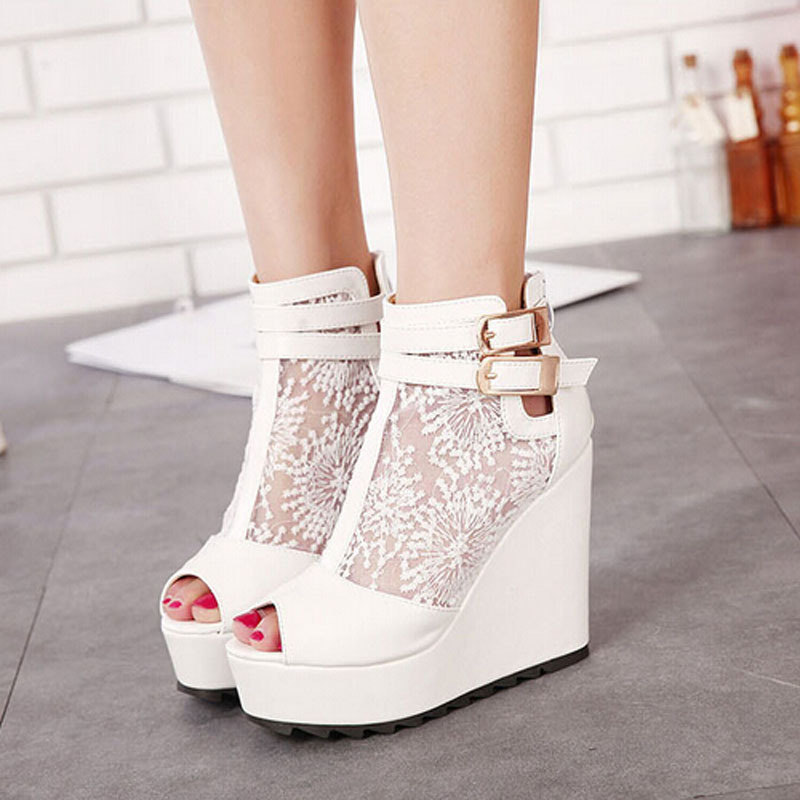 Womens White Shoes Heels - Qu Heel