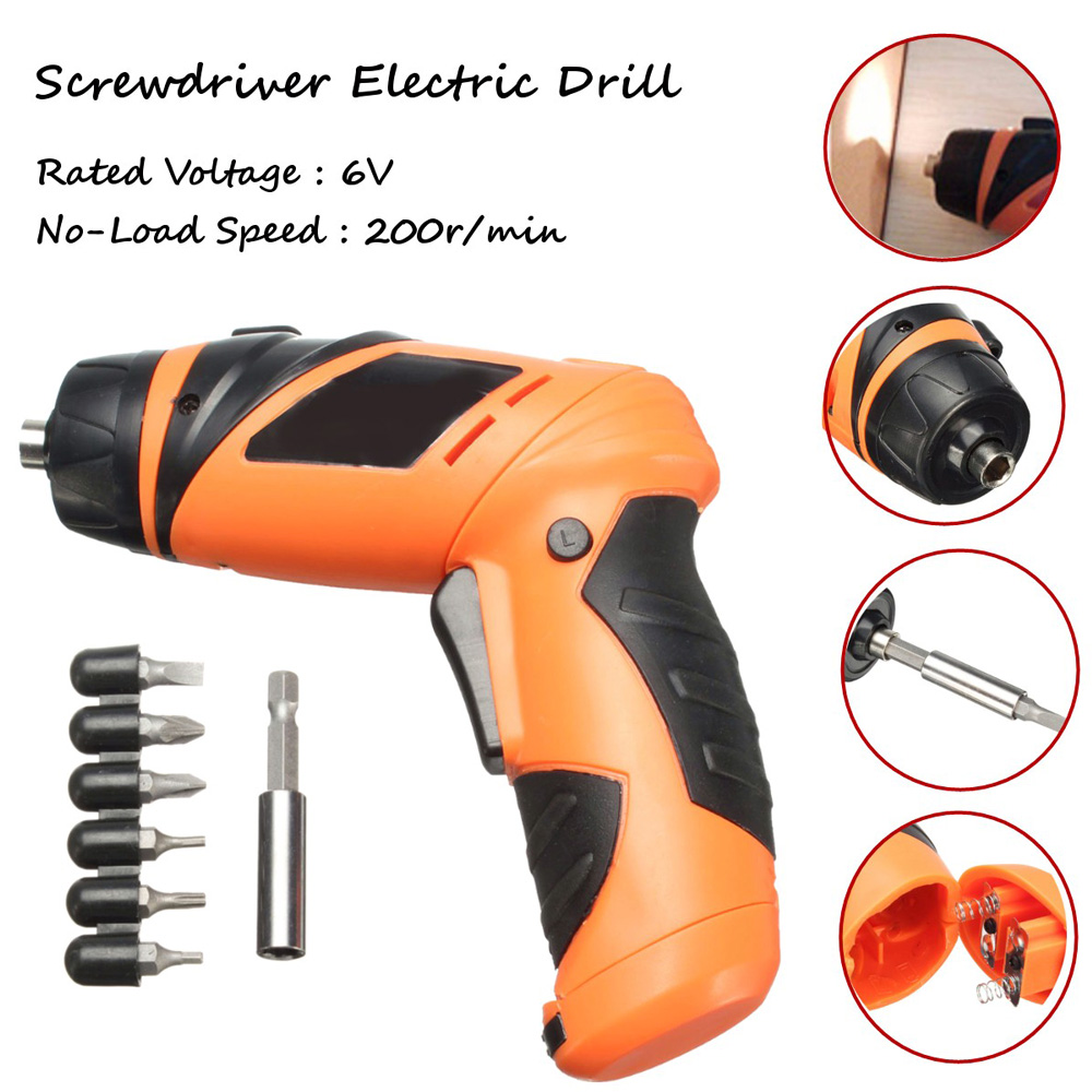 Latest Hot 6V Screwdriver Battery Operated Cordless Wireless Mini Electric Screw Driver Tool(China (Mainland))