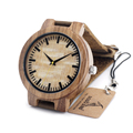Top brand luxury BOBO BIRD C20 New Vintage Round Bamboo Wood Quartz Watches With Real