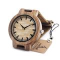 Top brand luxury BOBO BIRD C20 New Vintage Round Bamboo Wood Quartz Watches With Real