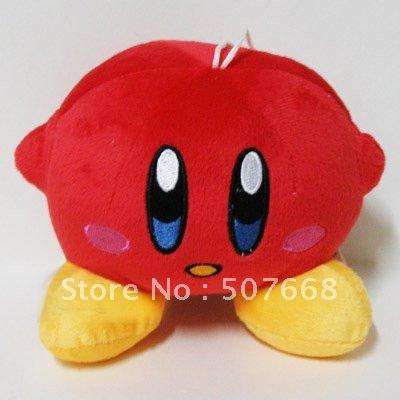 12cm Super Mario Bros Kirby Plush Toys Stuffed Plush Doll Toys red style(China (Mainland))