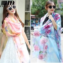 200*150cm 2016 Chiffon Scarf Shawl Vintage Elegant Ladies Long Silk Chiffon Scarf Designers Scarf Women Summer Beach Cover Up(China (Mainland))