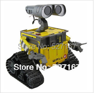 Hot Sale toy for the boys Wall-E Toys Robot 12cm WALL.E Free shipping opp package  eyes are paper Head Removable