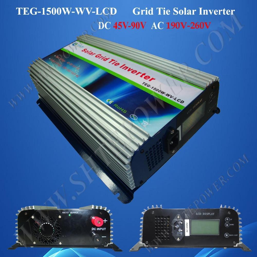 1.5kw micro solar inverter power tie grid inverter 1500w pv grid inverter(China (Mainland))