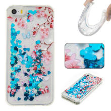 Buy Dynamic Liquid Glitter Sand Quicksand Star iphone 5S Case Crystal Clear Back Cover Coque iPhone 5 Case iPhone 5C SE for $2.84 in AliExpress store