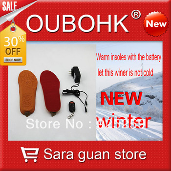 Insole Electric Heating With Remote Control Battery Heated Winter Outdoor EVA Material Free Shipping Oubohk