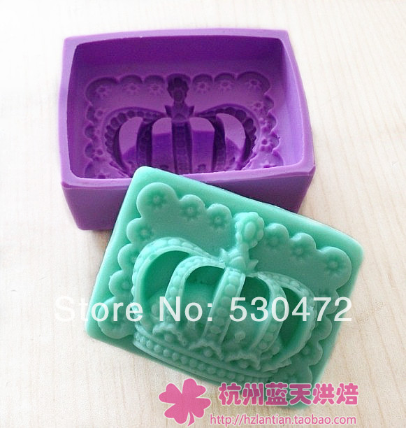 Wholesale /retail,free shipping,Silica gel mould handmade soap candle cold soap Imperial crown(China (Mainland))