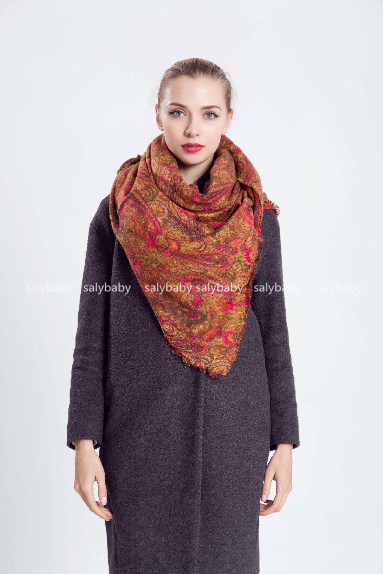 2016 New Winter Warm Female Print Scarf European Style Pashmina Dual-purpose Wholesale