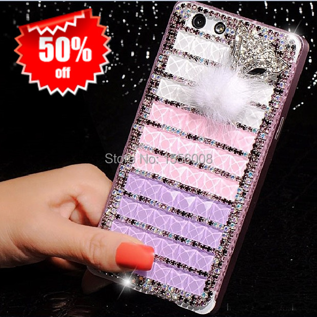 Case For Oppo Find 5 Mini R827 R827t Crystal Diamond Bling Fox Phone Case Luxury Metal Bumper Back Cover Girl's Birthday Gift(China (Mainland))