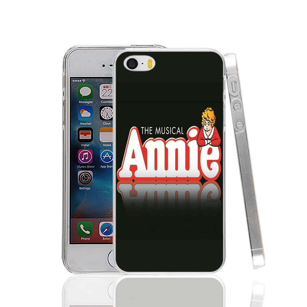 16026 Annie Broadway Musical logo hard transparent Cover Case for Apple iPhone 4 4S 5 5S 5C SE 6 6S Plus(China (Mainland))