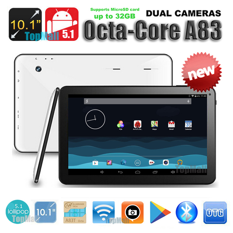 DHL Free Shipping ! Android 5.1 OS 10 inch A83T Octa Core 2GB RAM 32GB ROM Tablet PC 8 Cores Kids Gift MID Tablets !!!(China (Mainland))
