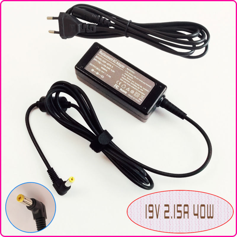 For Acer Aspire One 8.9'' 10.1''& Gateway Mini PC 11.6'' Netbook/Laptop Netbook Ac Adapter Power Supply Charger 19V 2.15A(China (Mainland))