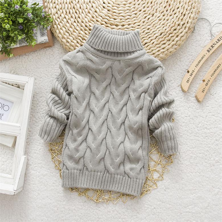 2015 Hot Sale Baby Boys Girls Sweater Childrens Kids Unisex Winter Autumn Pullovers Knitting Turtleneck Warm Outerwear Sweaters(China (Mainland))