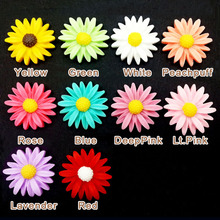 100pcs/Lot 22mm Mixed Colors Resin Vintage Sunflower Flower Flatback Cabochon Cameo Flat back Scrapbooking DIY Phone Craft(China (Mainland))