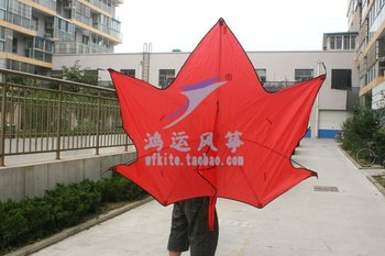 new style maple leaf kite attractive and hot sell  beautiful  exciting 6pcs/lot  free shipping  with control bar and line