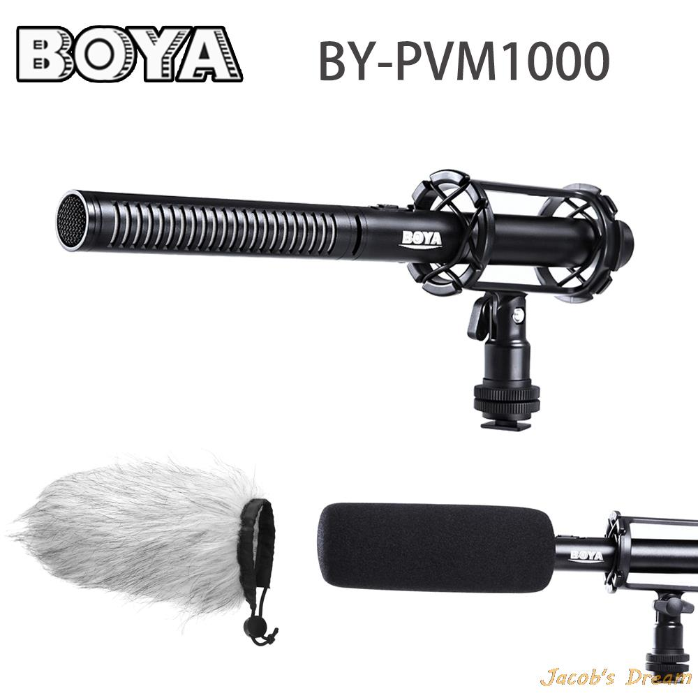 High Quality BO-YA Condenser Shotgun Video/interview Microphone P-VM1000 for Canon Nikon Sony DSLR Camera with Free Windshield(China (Mainland))