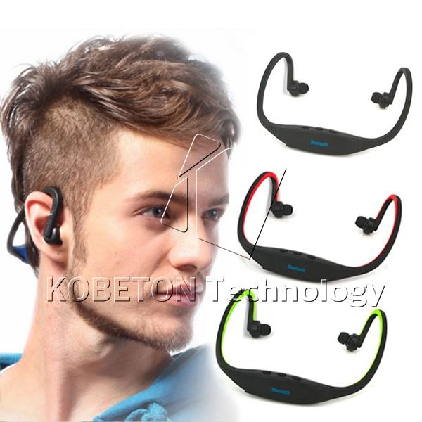 Universal Sport Stereo FM Handsfree Wireless Bluetooth Headset Earphone Headphone Music Player Micro SD TF Radio for all phones(China (Mainland))