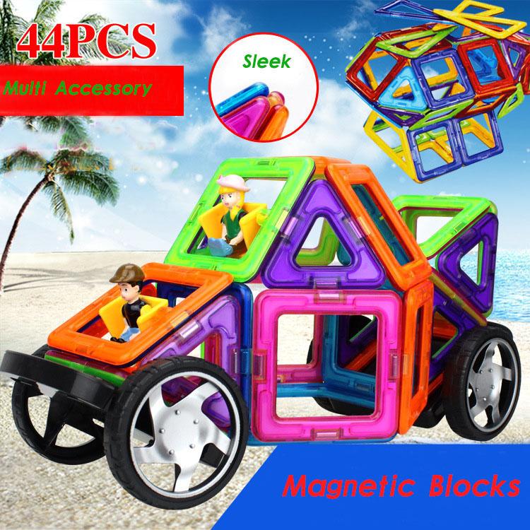44pcs/box Similar Magformers Magnetic Children Educational Magnetic Designer Block  DIY Fight Inserted Blocks Sheet for Kids<br><br>Aliexpress