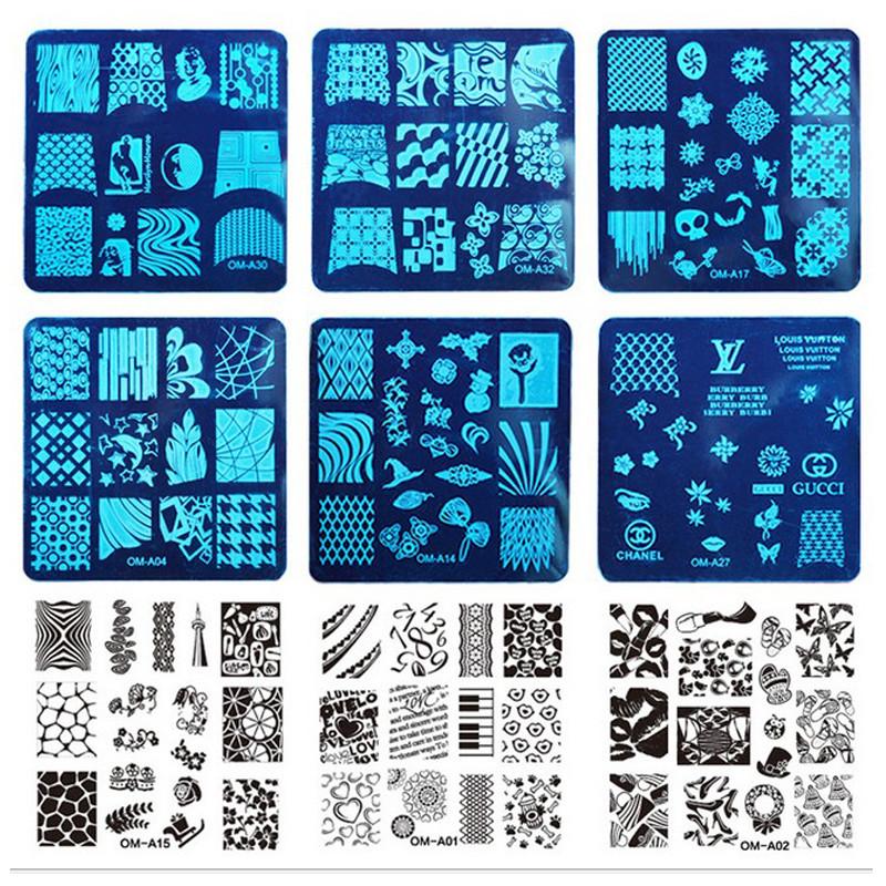 Wholesales 96Pcs/lot DIY Image Stamping Plates Fashion Nail Art Templates Stencils Salon Beauty Manicure Polish Tools BN066<br><br>Aliexpress