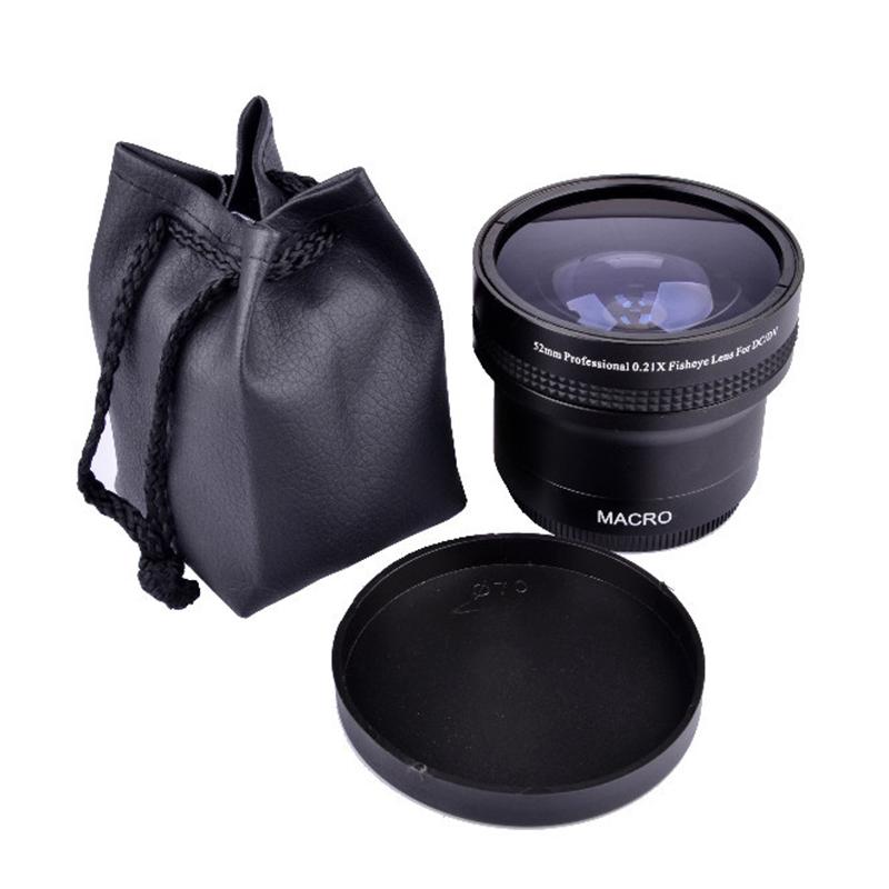 52mm 0.21X Macro Wide Angle Fisheye Lens for Nikon D700 D90 D80 D3000 D3100 D3200 D5100 w/ 18-55mm Lens DSLR Camera DC/DV(China (Mainland))