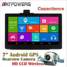 7 inch android GPS Navigation System+HD wireless car rear view camera,Capacitive gps navigator bluetooth+ Wifi+AVIN+512MDDR3+8GB(China (Mainland))