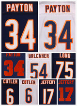 Stitched 6 Jay Cutler 34 Walter Payton 17 Alshon Jeffery 51 Dick Butkus 75 Kyle Long 89 Mike Ditka 40 Gale Sayers Elite Jerseys(China (Mainland))